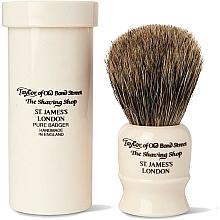 Parfüm, Parfüméria, kozmetikum Borotvapamacs, 8,5 cm, utazó tokkal - Taylor of Old Bond Street Shaving Brush Pure Badger