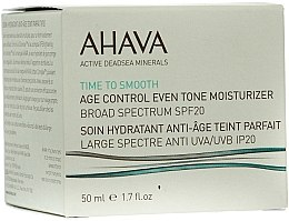 Parfüm, Parfüméria, kozmetikum Fiatalító és hidratáló krém SPF 20 - Ahava Age Control Even Tone Moisturizer Broad