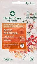 """Parfüm, Parfüméria, kozmetikum """"Méz és C-vitamin"""" arcmaszk - Farmona Herbal Care Manuka Honey Face Mask"""