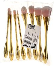 Parfüm, Parfüméria, kozmetikum Professzionális sminkecset szett 8 db, rózsaszín arannyal - Tools For Beauty