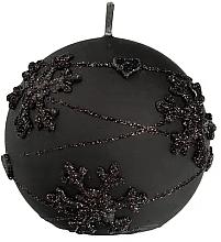 Parfüm, Parfüméria, kozmetikum Dekoratív gyertya, fekete gömb, 12 cm - Artman Snowflake Application