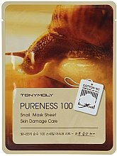 Parfüm, Parfüméria, kozmetikum Anyagmaszk arcra csiganyál kivonattal - Tony Moly Pureness 100 Snail Mask Sheet