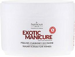 Parfüm, Parfüméria, kozmetikum Cukros peeling kézre - Farmona Egzotic Manicure Scrub