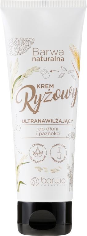 Köröm- és kézápoló rizskrém - Barwa Natural Rice Hand Cream