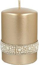 Parfüm, Parfüméria, kozmetikum Díszgyertya, arany, 7x10 cm - Artman Crystal Opal Pearl