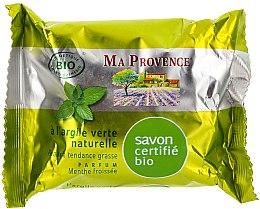 "Parfüm, Parfüméria, kozmetikum Organikus szappan menta illattal ""Zöld agyag"" - Ma Provence Nature Soap"
