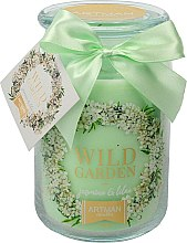 Parfüm, Parfüméria, kozmetikum Illatosított gyertya 10x16 cm, 700 gr - Artman Wild Garden Jasmin & Lilac