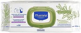 Parfüm, Parfüméria, kozmetikum Nedves törlőkendő oliva olajjal - Mustela Cleansing Wipes With Olive Oil