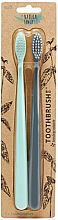 Parfüm, Parfüméria, kozmetikum Készlet - The Natural Family Co Bio Brush Rivermint & Monsoon Mist (toothbrush/1pcs + toothbrush/1pcs)