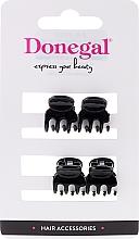 Parfüm, Parfüméria, kozmetikum Hajcsipesz FA-9930, mini, fekete, 4 db - Donegal Hair Clip
