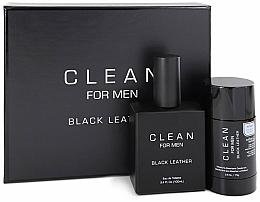Parfüm, Parfüméria, kozmetikum Szett - Clean Black Leather Men (edt/100ml + deo/75ml)