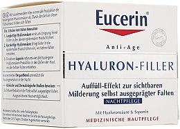 Parfüm, Parfüméria, kozmetikum Ránctalanító éjszakai krém minden bőrtípusra - Eucerin Hyaluron-Filler Night