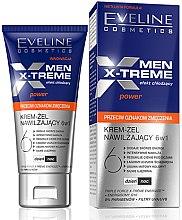 Parfüm, Parfüméria, kozmetikum Hidratáló krém-gél arcra - Eveline Cosmetics Men X-Treme Power Anti-Fatigue Moisturising Cream-Gel 6in1