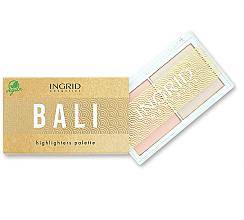 Parfüm, Parfüméria, kozmetikum Highlighter paletta - Ingrid Cosmetics Bali Highlighters Palette