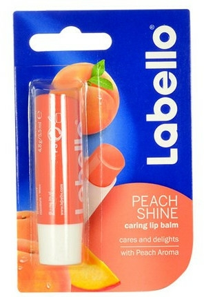 "Ajakápoló balzsam ""Őszibarack"" - Labello Lip Care Peach Shine Lip Balm"