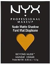 Parfüm, Parfüméria, kozmetikum Matt szemhéjpúder - NYX Professional Matte Shadow Beyond Nude