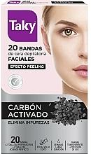 Parfüm, Parfüméria, kozmetikum Arcszőrtelenítő biaszcsíkok aktív szénnel - Taky Activated Carbon Facial Wax Strips