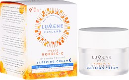 Parfüm, Parfüméria, kozmetikum Regeneráló éjszakai krém - Lumene Valo Overnight Bright Vitamin C Sleeping Cream