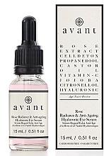 """Parfüm, Parfüméria, kozmetikum Öregedésgátló hialuronsavas szérum szemre """"Rózsa ragyogása"""" - Avant Rose Radiance & Anti-ageing Hyaluronic Eye Serum"""