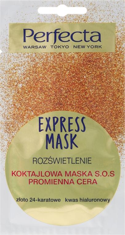 """SOS arcmaszk """"24-karátos arany és hialuronsav"""" - Perfecta Express Mask"""