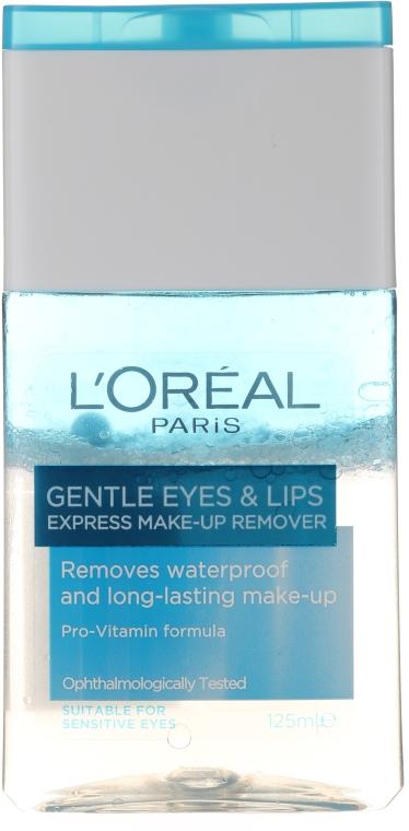 Vízállósmink lemosó szemre és szájra - L'Oreal Paris Gentle Eyes&Lips Express Make-Up Remover Waterproof