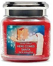 Parfüm, Parfüméria, kozmetikum Illatgyertya pohárban - Village Candle Here Comes Santa