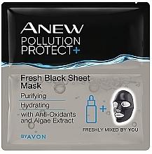 Parfüm, Parfüméria, kozmetikum Szövetmaszk arcra - Avon Anew Pollution Protect+ Fresh Black Sheet Mask