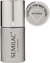 Parfüm, Parfüméria, kozmetikum Matt fedőlakk - Semilac UV Hybrid Top Mat