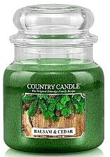 Parfüm, Parfüméria, kozmetikum Illatosított gyertya pohárban - Country Candle Balsam & Cedar