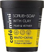 """Parfüm, Parfüméria, kozmetikum Agyag alapú szappan-testradír """"Körte és vetiver"""" - Cafe Mimi Scrub-Soap With Clay Pear & Vetiver"""