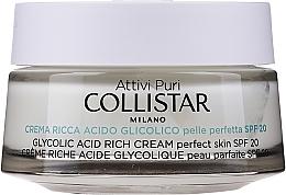 Parfüm, Parfüméria, kozmetikum Intenzív krém glikolsavval - Collistar Pure Actives Glycolic Acid Rich Cream SPF20