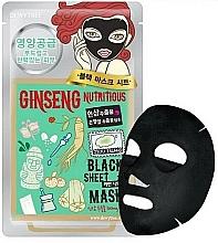 Parfüm, Parfüméria, kozmetikum Anyagmaszk tápláló ginzenggel arcra - Dewytree Ginseng Nutritious Black Sheet Mask