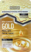 Parfüm, Parfüméria, kozmetikum Arcmaszk - Beauty Formulas Deep Cleansing Gold Peel Off Facial Mask