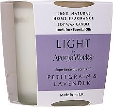 """Parfüm, Parfüméria, kozmetikum Illatosított gyertya """"Petitgrain és levendula"""" - AromaWorks Light Range Petitgrain & Lavender Candle"""