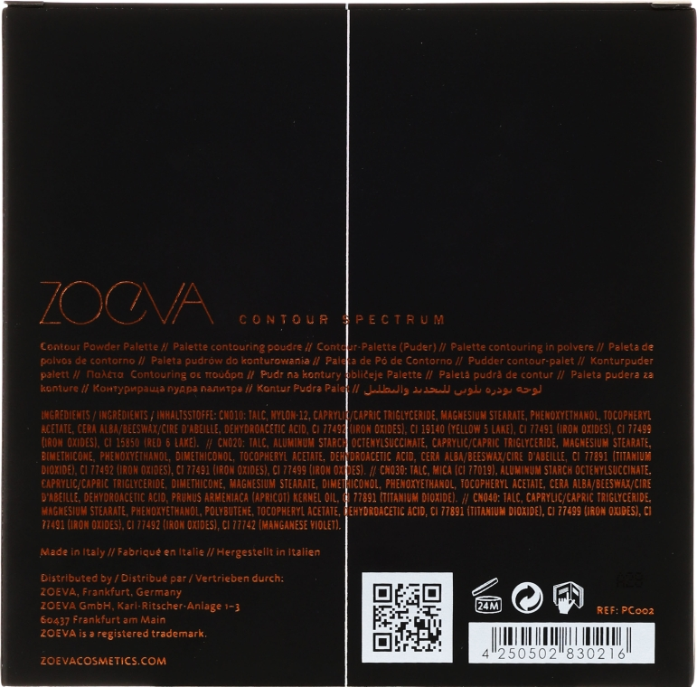 Kontóruzó paletta - Zoeva Contour Spectrum Contour Powder — fotó N3