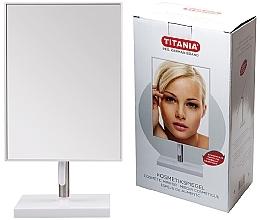 Parfüm, Parfüméria, kozmetikum Kozmetikai tükör keretben, 16x30 cm, fém lábon - Titania