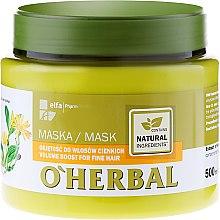 Parfüm, Parfüméria, kozmetikum Dúsító maszk vékonyszálú hajra árnika kivonattal - O'Herbal