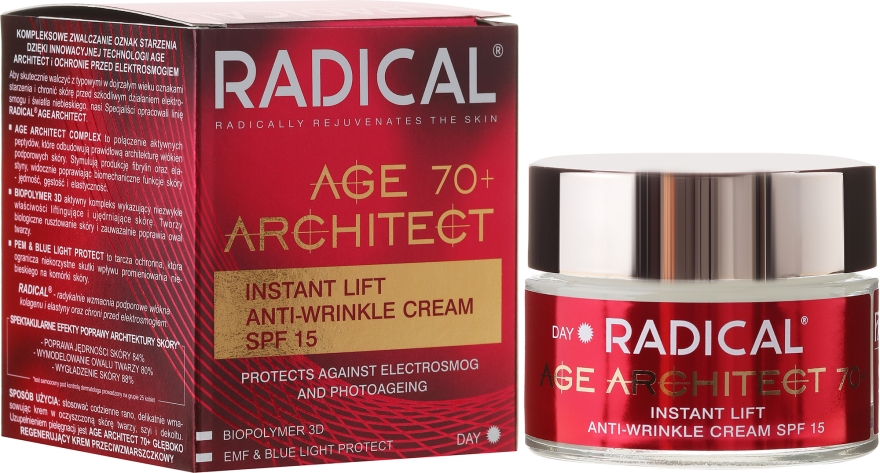 Ránctalanító arckrém 70+ - Farmona Radical Age Architect Cream 70+ SPF15