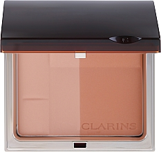 Parfüm, Parfüméria, kozmetikum Bronzosító ásványi anyagokban gazdag kompakt púder - Clarins Bronzing Duo Mineral Powder Compact SPF 15