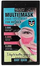 Parfüm, Parfüméria, kozmetikum Arcmaszk száraz bőrre - Beauty Formulas 3-Step Multi-Mask Face Treatment For Dry Skin