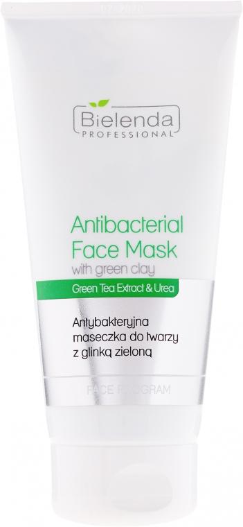 Antibakteriális arcmaszk zöld agyaggal - Bielenda Professional Face Program Antibacterial Face Mask with Green Clay