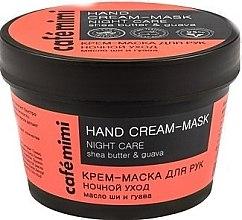 """Parfüm, Parfüméria, kozmetikum Kézkrém-maszk """"Éjszakai ápolás"""" she vaj és guava - Cafe Mimi Hand Cream-Mask Night Care"""
