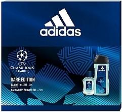 Parfüm, Parfüméria, kozmetikum Adidas UEFA Champions League Dare Edition - Szett (edt/50ml + sh/gel/250ml)