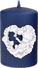 Parfüm, Parfüméria, kozmetikum Díszgyertya, sötétkék, 7x10 cm - Artman Amore