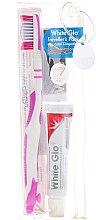 Parfüm, Parfüméria, kozmetikum Szájhigiéniai utazó szett, rózsaszín - White Glo Travel Pack (t/paste/24g + t/brush/1 + t/pick/8)