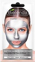 Parfüm, Parfüméria, kozmetikum Detox maszk zsíros és kombinált bőrre - Bielenda Silver Detox Metallic Mask