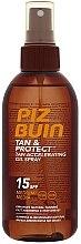 Parfüm, Parfüméria, kozmetikum Napvédő barnító olaj - Piz Buin Tan&Protect Tan Accelerating Oil Spray SPF15