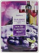 Parfüm, Parfüméria, kozmetikum Szövetmaszk áfonya és vörös szőlő - Deoproce Color Synergy Effect Sheet Mask Purple