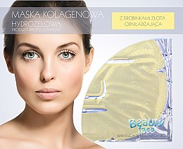 Parfüm, Parfüméria, kozmetikum Kollagén maszk arannyal - Beauty Face Collagen Hydrogel Mask