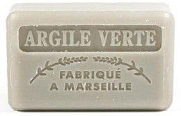Parfüm, Parfüméria, kozmetikum Marseillaise szappan zöld agyaggal - Foufour Savonnette Marseillaise Argile Verte